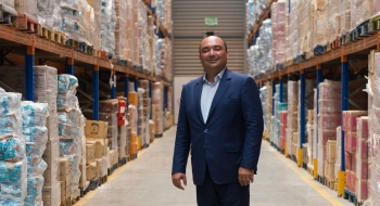 21.07.2016, Bouskoura. L'ex-ministre des sports, actuellement président de Dislog Group, Moncef Belkhayat, dans son unité logistique de Bouskoura. DAVID RODRIGUES / LE DESK
