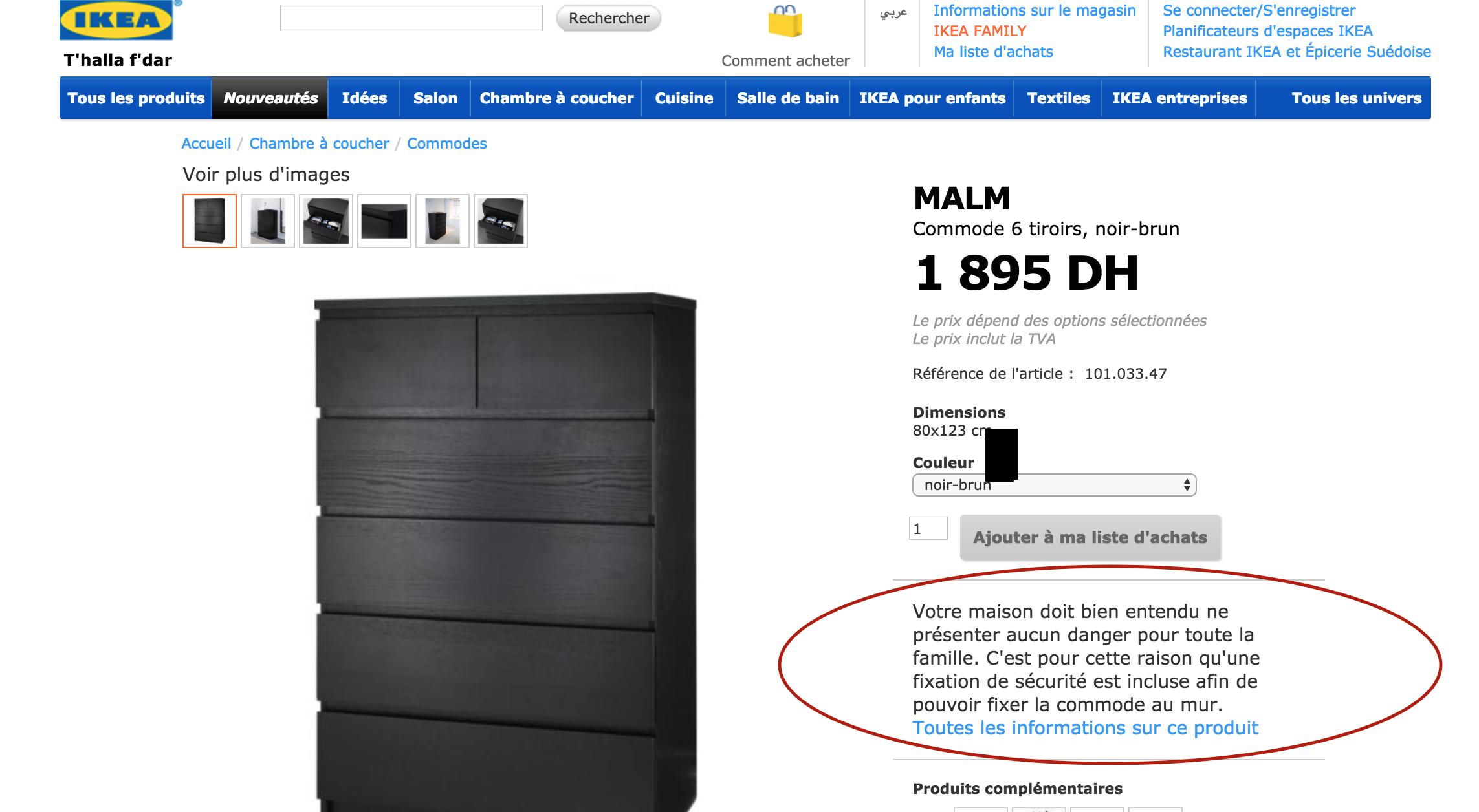les armoires tueuses d 39 ikea pr sentent elles un danger au maroc le desk. Black Bedroom Furniture Sets. Home Design Ideas